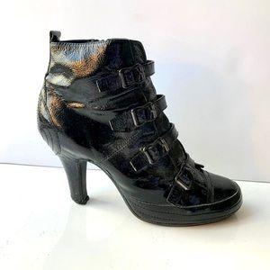 ASH Patent leather buckle bootie size 39EU